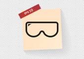 Scuba mask web icon — Stock Vector