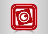 Lens web icon — Stock Vector