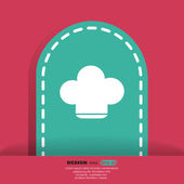 Kocken cap ikonen — Stockvektor