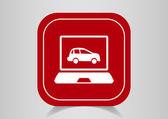 Car diagnostics icon — Stock Vector