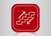 Staircase web icon — Stock Vector