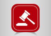 Law web icon — Stock Vector