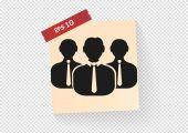 Businessmen web icon — Stock Vector