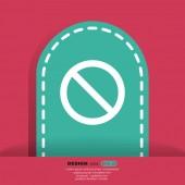 Prohibition sign web icon — Stock Vector
