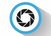 Lens web icon. — Stock Vector