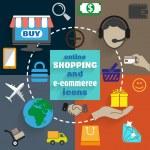 ������, ������: Online shopping icons set