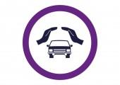 Car web icon — Stock Vector
