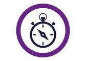 Stopwatch web pictogram — Stockvector