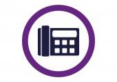Fax, web icon — Cтоковый вектор