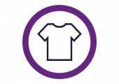 Simple T-shirt icon — Stock Vector