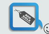Etykieta ikona sieci web — Wektor stockowy