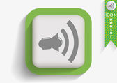 Loudspeaker web icon — Vector de stock