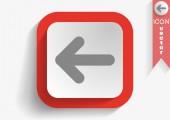 Icona di web della freccia — Vettoriale Stock