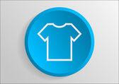 Simple T-shirt icon — Stok Vektör