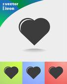 Heart web icon — Vettoriale Stock