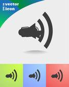 Loudspeakers web icons — Stock Vector