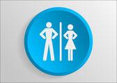 Man and woman icon — Stockvektor