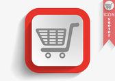 Shopping cart web icon — Stock vektor