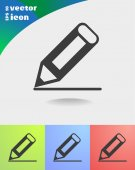 Write a note to web icon — Stock Vector
