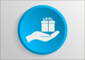 Gift web icon — Stock vektor