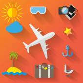 Travel icons set — Vector de stock
