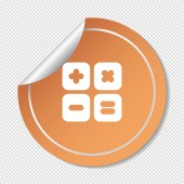 Calculator, web icon — Stock Vector
