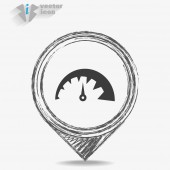 Display web icon — Stock Vector