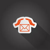 Email web icon — Stock Vector
