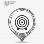 Icon depicting a target — Stock Vector