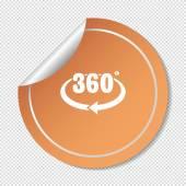 360 degrees web icon — Stock Vector