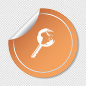 Globe key icon — Stock Vector