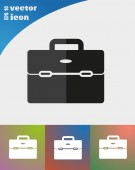 Business bag for documents web icon — Stockvektor