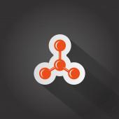 Molecular compound web icon — Stock Vector