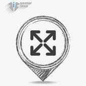 Flechas web icono — Vector de stock