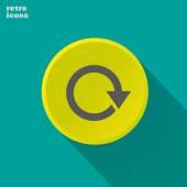 Round arrow icon — Vector de stock