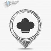 Icon chef hat — Stock Vector