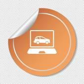 Car diagnostics symbol — Stock Vector