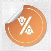 Percentage web icon — Stock Vector