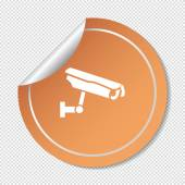 Sign CCTV, web icon. — Stock Vector