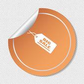Label web icon — Stock Vector