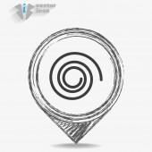Black Rotation circle isolated — Stock Vector