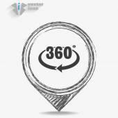360 degree  icon — Stock Vector