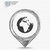 地球の web アイコン — ストックベクタ