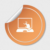 Touch operation, web icon. — ストックベクタ