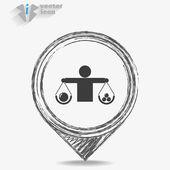 Balance, web icon. — Stock vektor