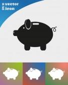 Piggy spindelväv ikonen — Stockvektor