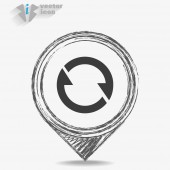Rotation circle isolated — Stock Vector