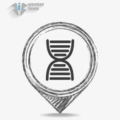 Hourglass icon isolated — Stock Vector