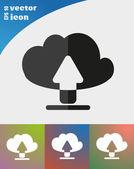 Cloud file downloads — Stock Vector