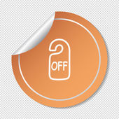 Label off web icon — Stock Vector
